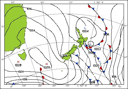 New Zealand Weather Map